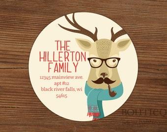 Christmas labels, holiday labels, return address labels, envelope labels, gift tags, favor labels
