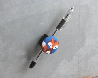 Magnetic Pen, Pencil, or Chalk Holder - Limited Design - Little Fox