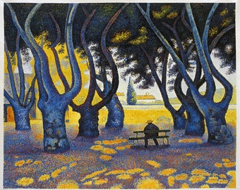Place des Lices, Saint-Tropez - Paul Signac hand-painted oil painting reproduction, beautiful living room large wall art, modern house decor