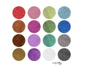 ultimate rainbow german glass glitter collection, 1/2 ounce each of 14 colors, 90 grit fine glitter