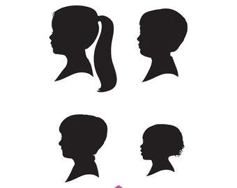Four Custom Silhouette Prints - As Seen in HGTV Magazine - October 2013
