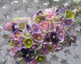 Forget Me Nots Old Fashioned Millinery Flowers in Garden Mix 2 Bouquets