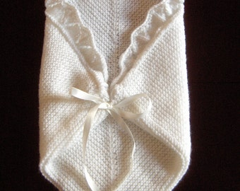 Premature Small Baby Knitting Pattern For Cuddle Blanket/ Angel Pocket DK