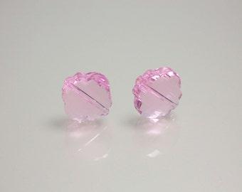 2pcs 18mm Chinese Crystal Glass beads Lantern/Clover Shape Light Pink Pendant Focal Jewelry Jewellery Craft Supplies
