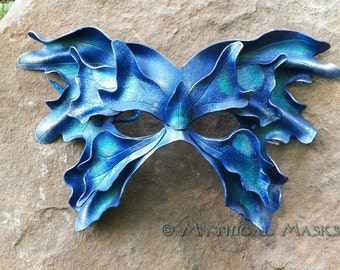 Blue Great Fairy Leather Mask