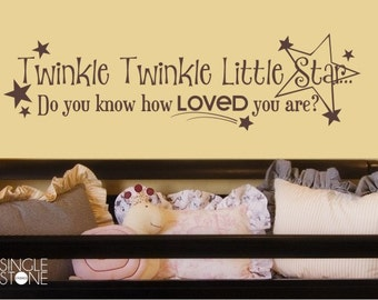 Twinkle Twinkle Little Star Nursery Wall Decal - Children's Baby Vinyl Wall Decal Sticker