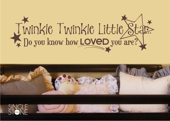 Twinkle Twinkle Little Star Nursery Wall Decal - Children's Baby Vinyl Wall Decal Sticker