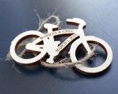 Personailzed mini bicycles - engraved wood, quantity 50