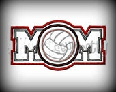 Volleyball Mom Embroidery Applique Design