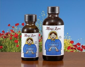 Flower Essence Aromatherapy for Attention, Focus, Mental Alertness, Creative Activity, Get Stuff Done, Organic, Reiki-infused
