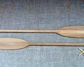 "52"" Paddles Raw Wood Pair (2) Unfinished for Nautical Wedding Guest Book / Nautical Nursery / Oar / Lake / Canoe Paddle / Beach Wedding"