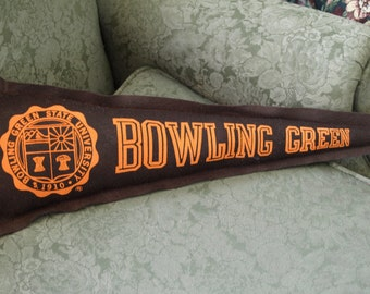 Awesome Vintage Bowling Green University Pennant Pillow