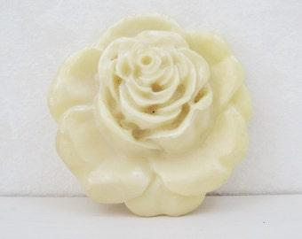 Large Rose Buckle Vintage sculpted Resin Belt Craft Sewing