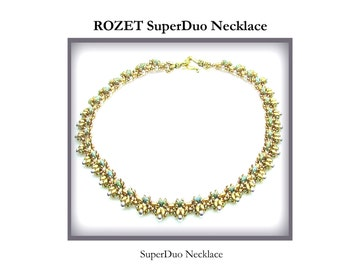 ROZET SuperDuo Beadwork Necklace Pdf tutorial instructions for personal use only