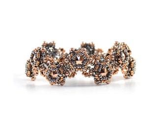 Penny Crossing Bracelet Rose Gold Beading Kit