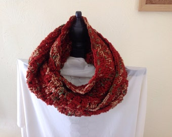 Warm Infinity Scarf 7x58 inches