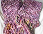 WINTER OFFER - Dusky Rose Hand Knitted Long Soft Warm Wraparound Scarf