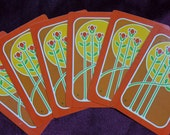 Vintage Sunrise Flowers Playing Cards