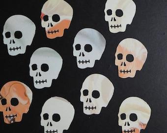 Orange White and Cream Skull Die Cuts