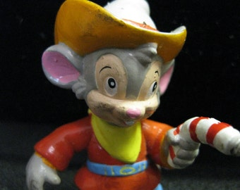 1991 Vintage PVC Applause Fievel Goes West Cowboy Mouse American Tail slightly dirty