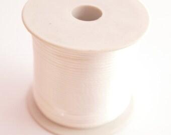 Batch of 10 m white Flosh Silk linen