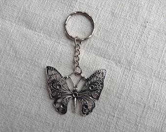 Steampunk Butterfly Keychain