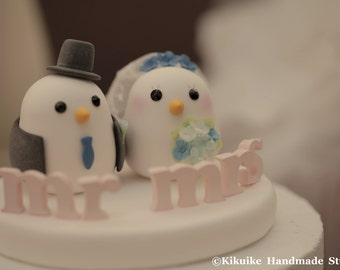 Love birds  Wedding Cake Topper (K345)