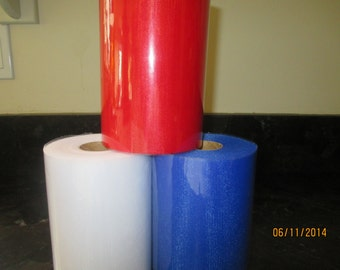 Tulle Tutu Tulle 3 Large Rolls 100 Yards  Red, White and Blue  Bridal  Parties