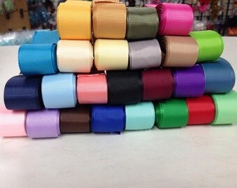 "1.5"" x 40 yard Grosgrain Variety Assortment 2 yards of each 20 colors"
