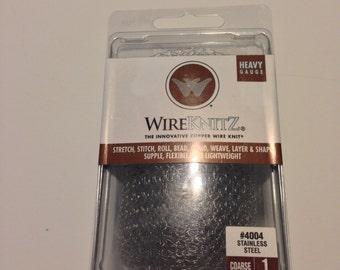 WireKnitz 4004:Heavy Gauge Stainless Steel Course Knit 1 Meter