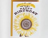 You Brighten My Day, Happy Birthday - letterpress birthday card
