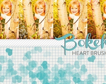photoshop brushes - heart bokeh - for photography or scrapbooking - commercial use allowed - automatic download