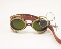 Handmade Solid Brass Goggles Steampunk Cosplay Glasses Steam Punk FREE SHIPPING