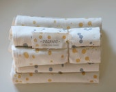 2 Organic Dripped Dots Dish Towels