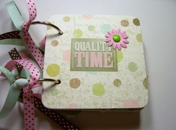 Friends Mini Scrapbook Album, Friends mini Album, Friends Photo Album, Friends Brag Book, Friends Scrapbook, quality Time Album