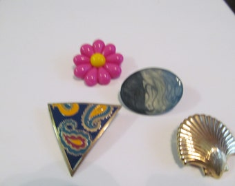 5 handmade brooches (flower)