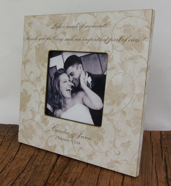 Personalized Wedding Picture Frame, Custom wedding picture frame, 4x4