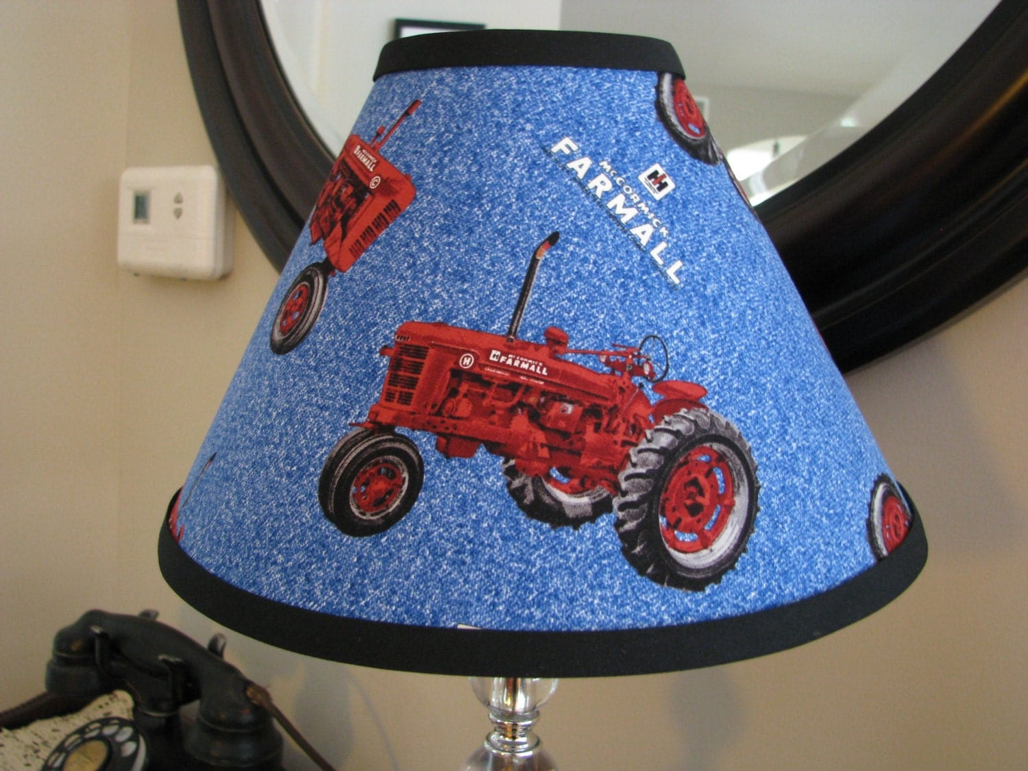 Tractor Desk Lamp : Lamp shade farmall international harvester tractor