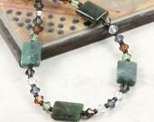 Indian Jasper Bracelet Dark Topaz Bracelet Pale Green Light Blue Jewelry Fall Fashion Gemstone Jewelry Multicolor Crystal Bracelet