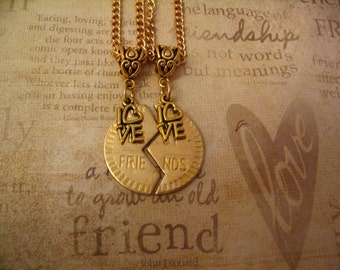Best Friend Love Necklace Set for Friends Sisters Gift