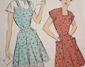 Vintage Apron Pattern Size Medium by Advance #5288 SweetHeart Apron Sewing Pattern