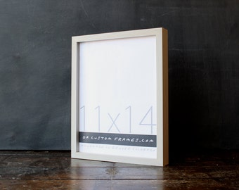 11x14 picture frame with natural sand colored finish part of Drift Collection . 11x14 handmade picture frame .
