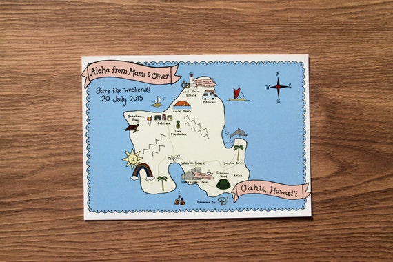 custom map design - for weddings or other occassions