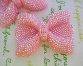 sale NEW item Large sparkly Bow 2pcs Pink 52mm x 41mm