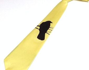 RokGear Mens necktie - Set of 5 ties Crow design - custom colors available