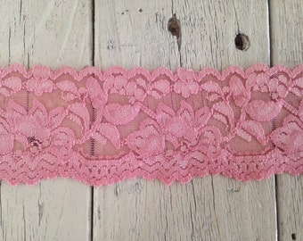 Wide Stretch VINTAGE PINK n0.399  -2  inch -2 yards for 2.99