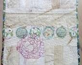 French Peony ~ an original art quilt