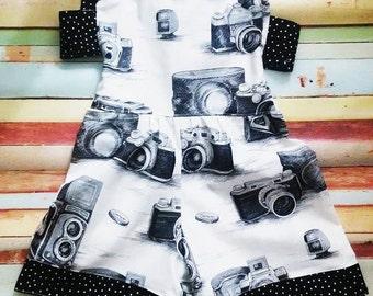 Retro Romper- Vintage Camera Romper- Sun suit - Baby Romper - Girl Romper -Rayna's Romper