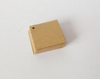 50 Diamond kraft tags, diamond hang tags, product tags, price tags, gift tag, gift label, blank tag, scrapbook tag