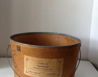 Antique DeWitt Henry Co Vanilla Cream Pops Cardboard Tub